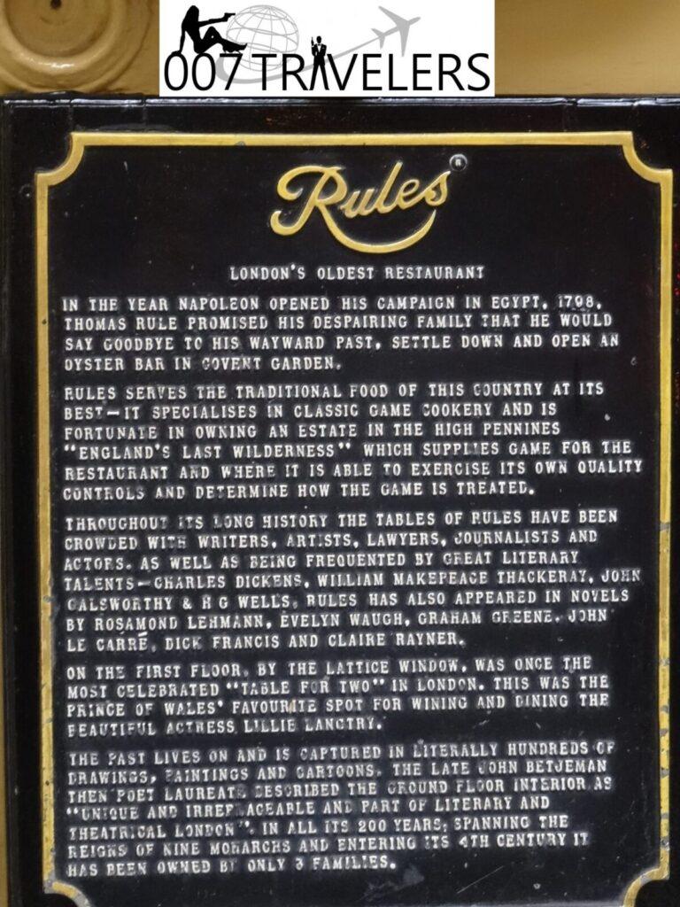 007 Filming location: Rules restaurant / SPECTRE (2015) – 007 Blog