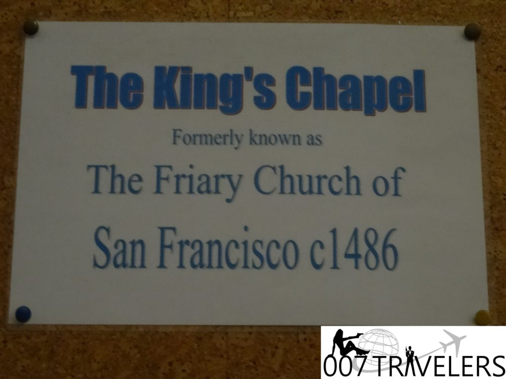 007 book location  the king u2019s chapel  gibraltar